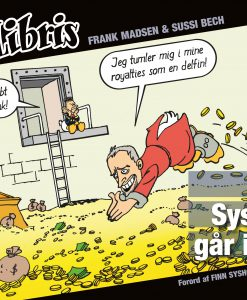 Eks Libris 6 Finn Sysholm går i sort af Frank Madsen og Sussi Bech - tegneserier