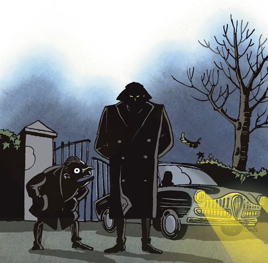 Mystiske fremmede kommer til Grødby