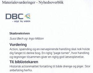 """Uddrag af bibliotekernes fremragende lektørudtalelse på """"Aziru""""."""