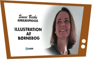 Sussi Bech illustration af børnebog