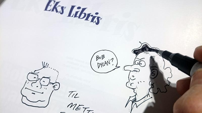 Også den nye Eks Libris blev signeret Art Bubble.