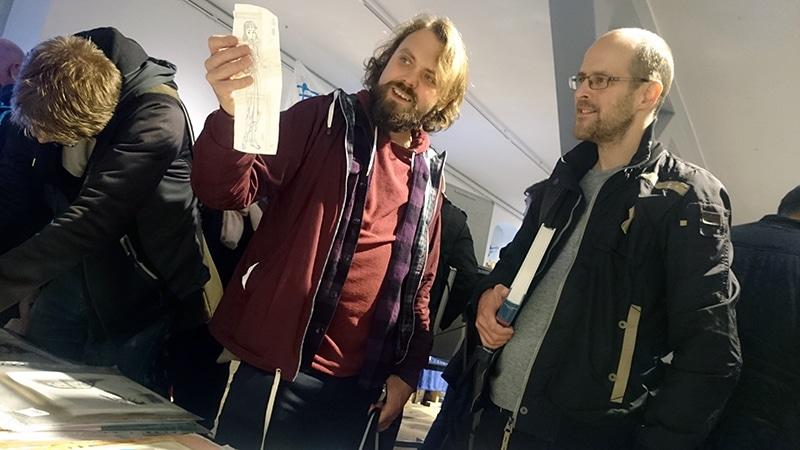 Fra Sverige kom Jimmy Wallin og Joakim Gunnarsson, der købte en originaltegning af Nofret.