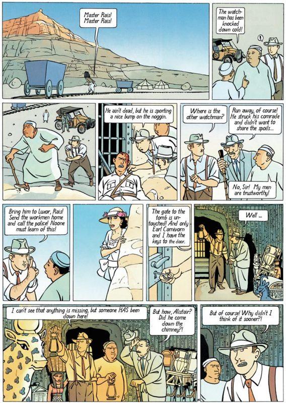 aida-nur-egypt-tutankhamun-tomb-sussi-bech-comics-bande-dessinee
