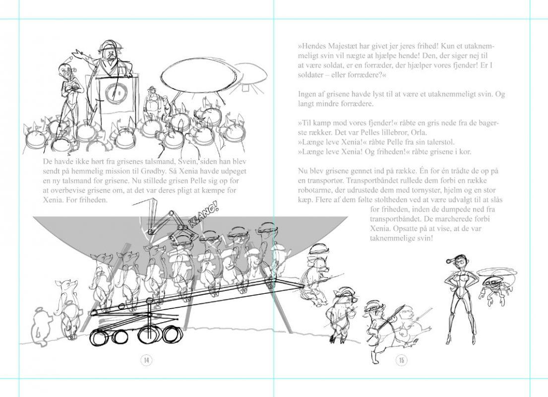 Opslag fra Gustav og Raketbroderskabet bind 8, der udkommer til august