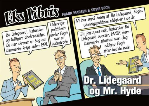 Tegneserie Eks Libris Dr. Lidegaard og Mr. Hyde