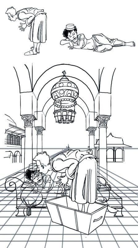 Hans Christian Andersen og Sussi Bech - billedbog den flyvende kuffert