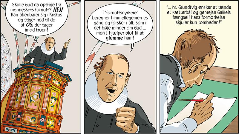 Fejden mellem H.C. Ørsted og Grundtvig beskrives i ny tegneserie fra Forlaget Eudor