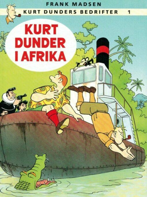 Kurt Dunder i Afrika af Frank Madsen tegneserie tegneserier