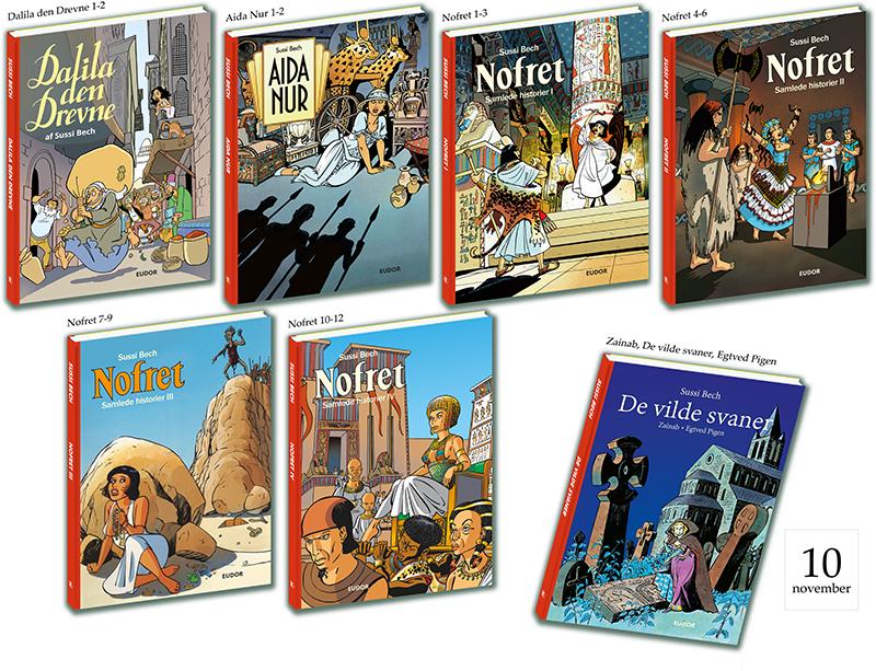 Sussi Bechs Samlede Værker tegneserie tegneserier Nofret Aida Nur Dalila den Drevne