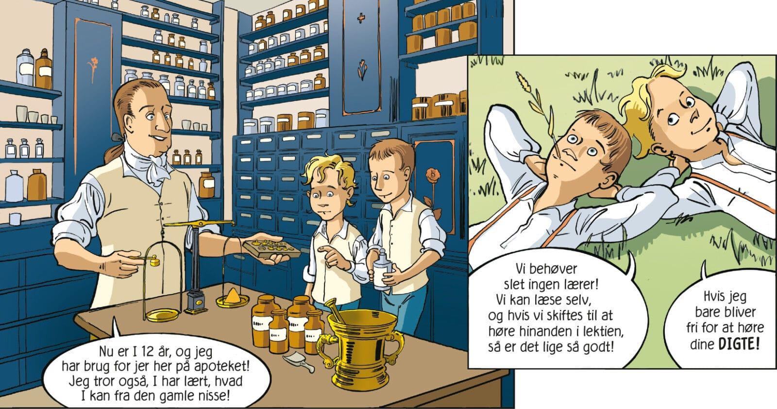 brødrene Ørsted Anders Sandøe Ørsted Hans Christian Ørsted HC Ørsted tegneserier tegneserie om Ørsted