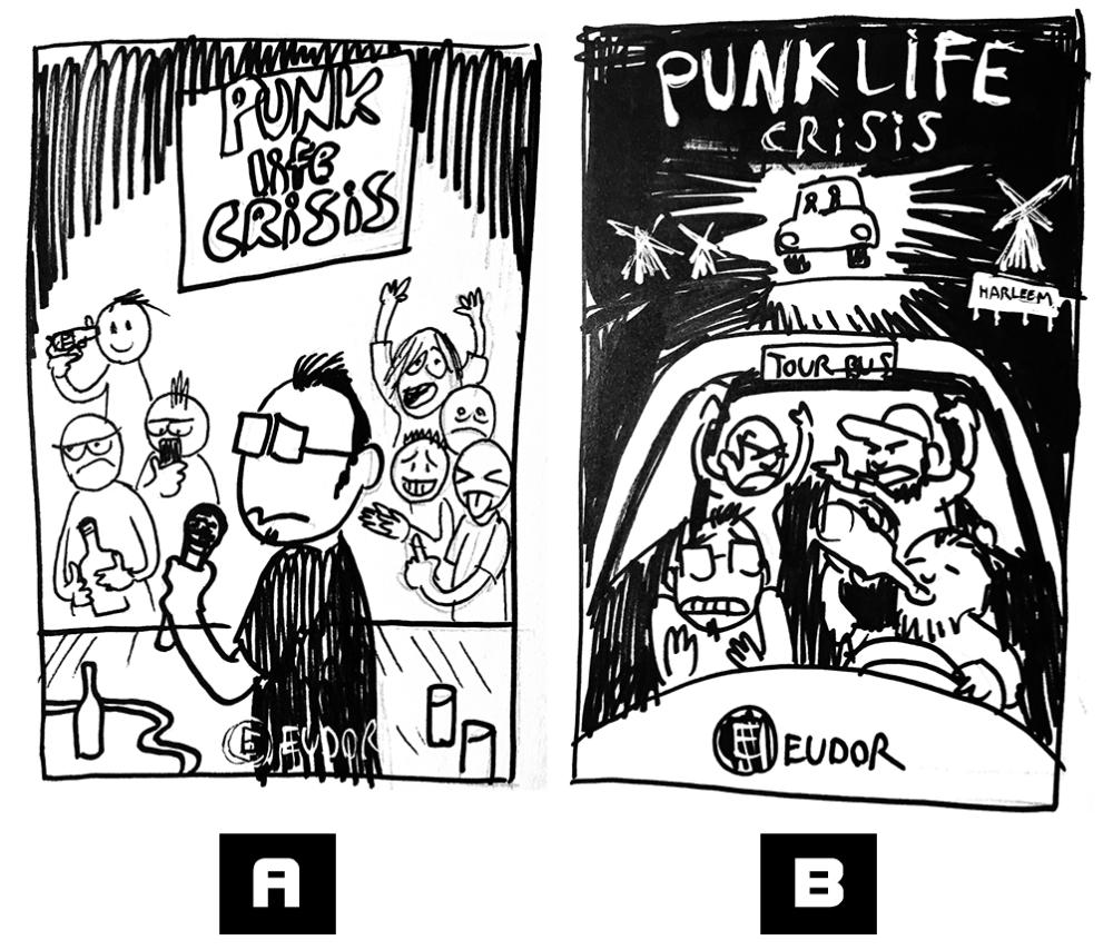 Punk Life Crisis graphic novel tegneserie af Simon Petersen