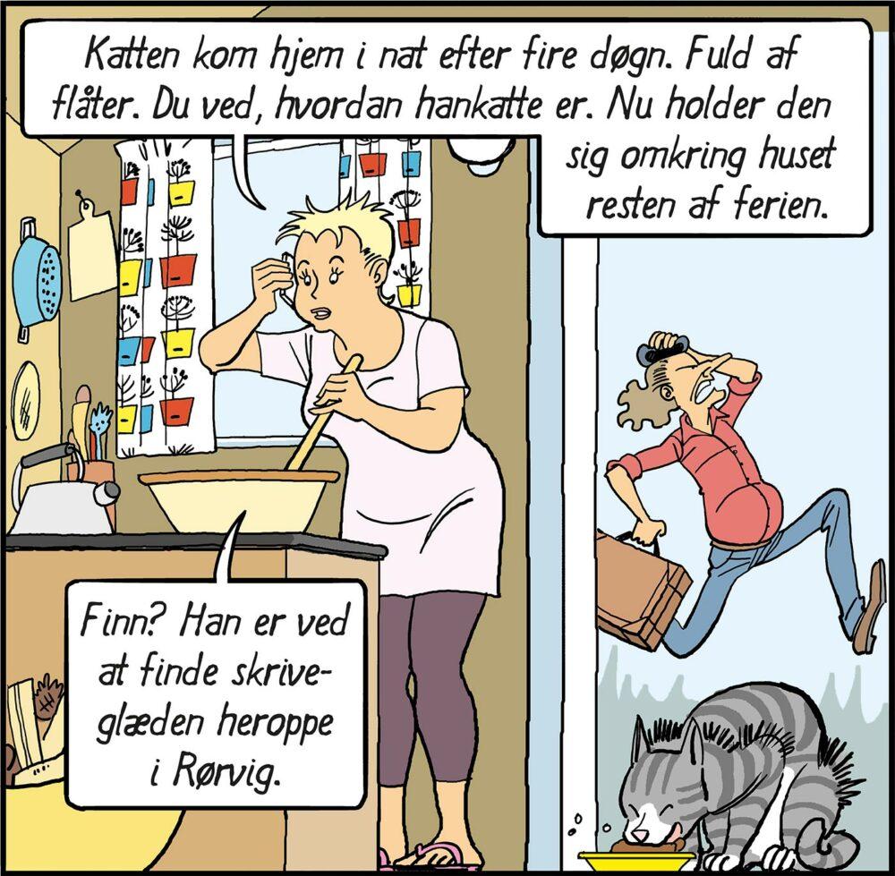 tegneserie sommer sommerferie skriveophold refugium hald hovedgaard rørvig