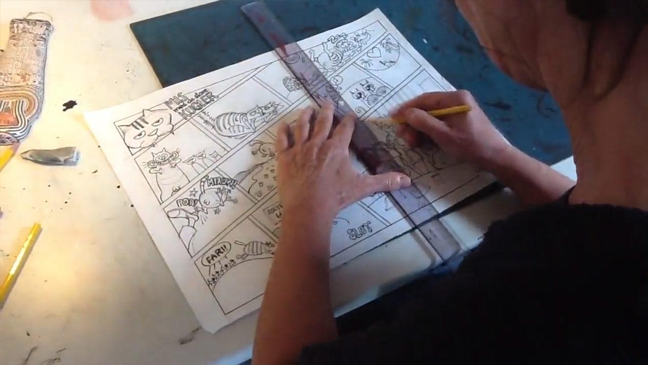 Sådan laver man en tegneserie Sussi Bech Eks Libris video