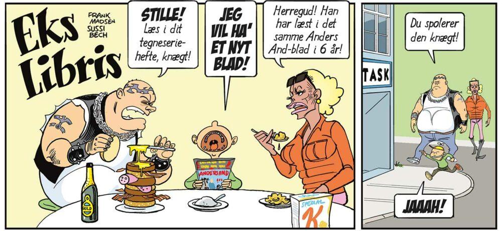 Fantask 50 år fødselsdag - Eks Libris tegneserie